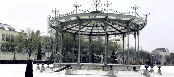 Angers sous la neige
