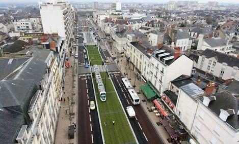Le boulevard Foch à Angers