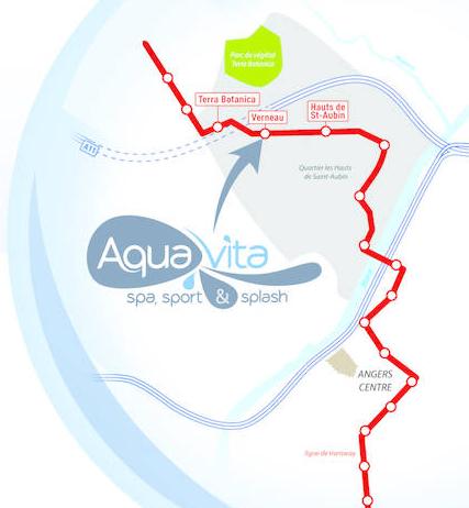 plan accès aquavita angers